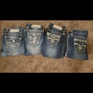 Set of 4 Rock Revival Bootcut Jeans